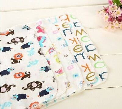 6pcs Baby Cartoon Towels Handkerchief Bathing Feeding Face Washcloth Wipe Cloth