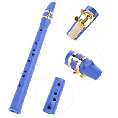 Mini Pocket Bb Saxophone Sax Woodwind Musical Instrument with Carrying Bag Blue