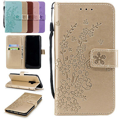For Samsung Galaxy J3 J5 J7 2017 Leather Wallet Stand Phone Case Cover 3D Flower