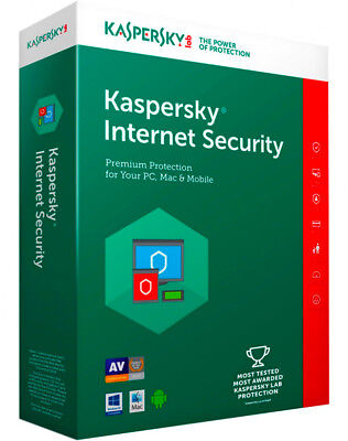 KASPERSKY INTERNET SECURITY 2018 2019 1 PC 2 YEAR -1 User 1 Device / Global Key