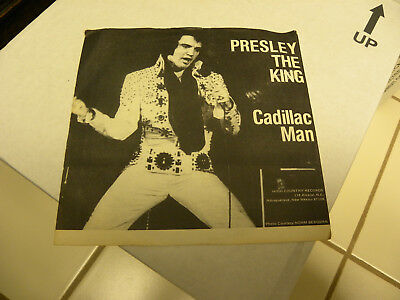 Presley the King Cadillac Man High Country Records SG108 ( Elvis Presley )