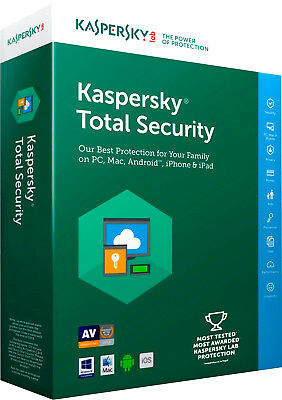 KASPERSKY TOTAL SECURITY 2018 2019 1 PC 1 Year / Global Key / 1 Device 1 User