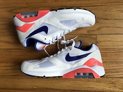 16b931a4127 Nike Air Max 180 OG ULTRAMARINE WHITE SOLAR RED BLUE 615287-100 sz 10 DS