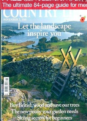 COUNTRY LIFE MAGAZINE 7th NOVEMBER 2018 ~ WITH FREE GENTLEMEN'S LIFE MAG ~