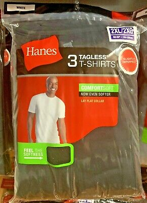 Hanes Men's 4 Pack Pocket T Shirt Tagless Comfort-soft Sizes M-2-XL Brand New