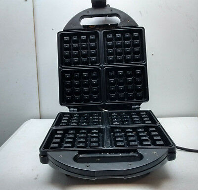 Krups Belgian Electric Waffle Maker Baker Stainless Non Stick 4 Waffles Silver