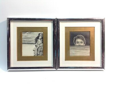 Pair of Original Mykal Zschech Framed Drawings