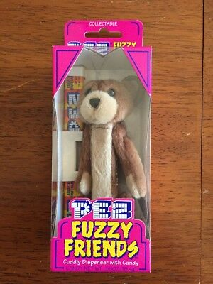 "Pez - FUZZY FRIENDS - ""BUDDY BEAR"" Born: 12/29/00 in Original Packaging"