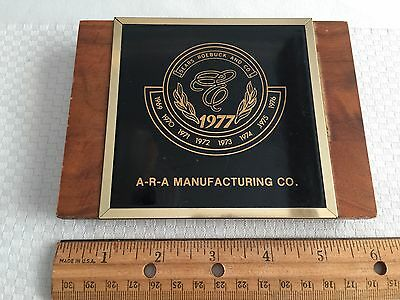 Vintage 1977 Sears Roebuck Wood Plaque ~ 4 x 6 ~ ARA Manufacturing
