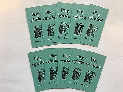 "Set of 10 Green Coke Coca Cola Bridge Scoring Cards w/ ""Sprite Boy"" ~ Ca 1940's"
