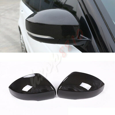 Rearview Mirror Carbon Fiber Cover Trim For Land Rover Range Rover Sport 14-18