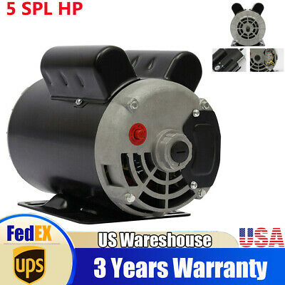5 HP SPL 3450 RPM Air Compressor 60 Hz Electric Motor 208-230 Volts Century B385