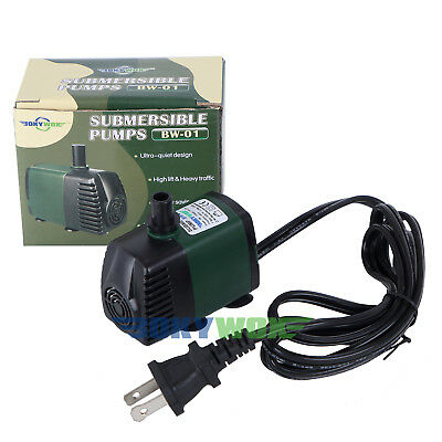 110V,119GPH Submersible Water Pump 3W Fish Tank Pond Fountain Fall Hydroponic