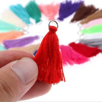 DIY 50X Cotton thread Tassels Pendant Earrings Jewelry makeing Accessories 30mm