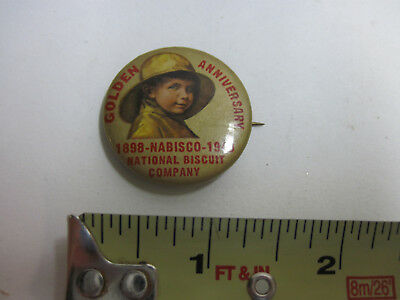1898 - 1948 Nabisco Golden Anniversary Pinback Button National Bisquit Company