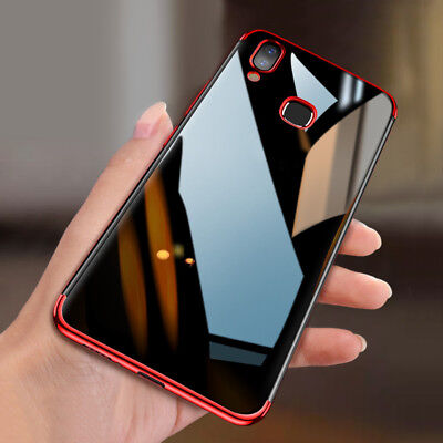 For Huawei P Smart 2019/P Smart Plus Plated Soft Silicone Clear TPU Case Cover