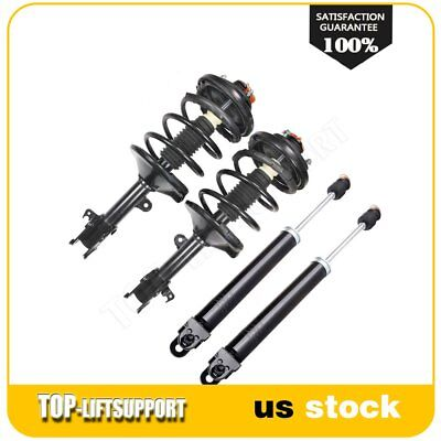 Full Set 2 Front Complete Struts Coil Springs 2 Rear Shocks Fits Nissan Maxima