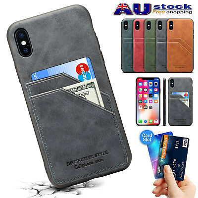 Leather Slim Wallet Card Slot Holder Shockproof Cover Case for iPhone XS Max AU