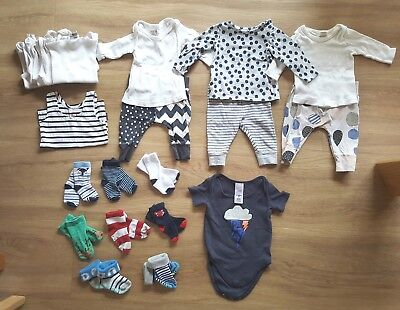 0-3 months Boys baby clothes bundle (less than $1ea)