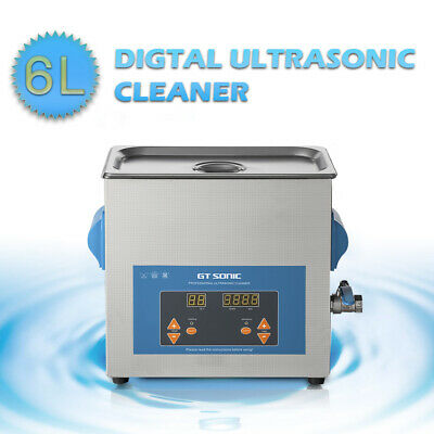 6L Digital Stainless Ultrasonic Cleaner Ultra Sonic Bath with Cleaning Basket