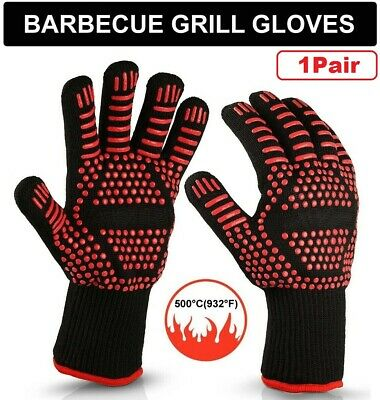 BBQ Grill Gloves Extreme Heat Resistant Protection Up to 932°F Barbecue Cooking