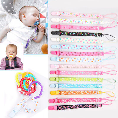 Cute Anti-lost Nipple Clip Strap Soother Baby Pacifier Clip Chain Dummy Holder