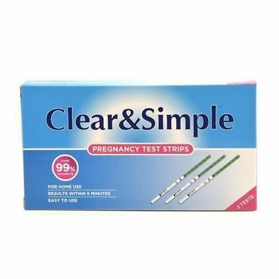 Clear & Simple High Sensitivity Pregnancy 20mIU of HGC Urine Test Strips x 30