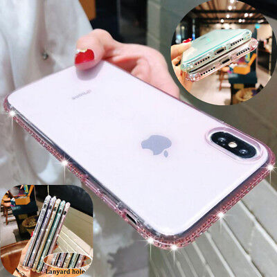 Bling Diamond Slim Soft Silicone Clear Case Cover For iPhone XS Max XR X 8 7 6S