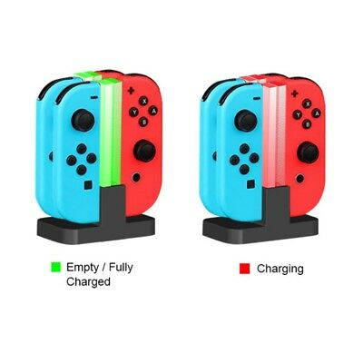 for Nintendo Switch Joy Con & Pro Controller Charging Dock 4In 1 Stand Charger