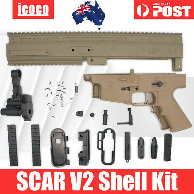 AU Store Receiver Shell Kit Jinming SCAR V2 Gel Blaster Water Toy Accessories
