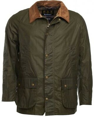 NWT $399 Men's Barbour Lightweight Ashby Waxed Cotton Green M Medium