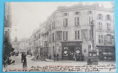 CPA 1903 EPINAL Vosges 88 Pinau  rue Aubert  Ed J ARMAND Commerces cycles tabac