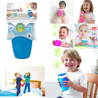 1Pcs Sippy 360 Degree Trainer Cup Anti Spill Chew Proof Miracle Toddler Training