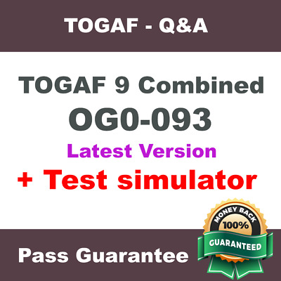TOGAF 9 Combined Part 1 and Part 2 Exam OG0-093 Exam Dump Test Q&A PDF + VCE SIM
