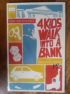 4 Kids Walk Into a Bank #1 Black Mask comics signed by Rosenburg