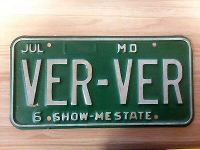 LICENSE PLATE, MISSOURI, Show-Me State, 838 TLP - $6 99