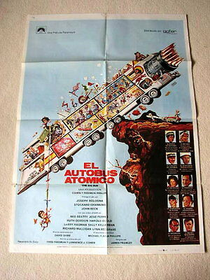 THE BIG BUS Vintage Movie Film Poster STOCKARD CHANNING NED BEATTY LARRY HAGMAN