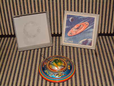 Apollo Flying Saucer ~ Friction Driven, Tin By B&s Of Western German! Nosiob!!