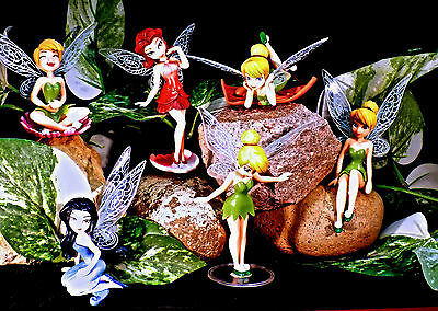 Tinkerbell Small Figurines  (Choose From 6 Styles ), New
