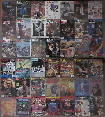 Lot of 42 RELIX Duprees Diamond GRAY AREAS & MUSICIAN Magazines EXCELLENT / MINT