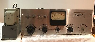 Ampex 351 Tube mic Preamplifier audio + Power Supply 3741R2 *PARTS OR REPAIR *