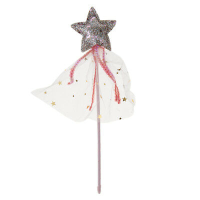 PRINCESS MAGIC WAND WITH LIGHTS PROPS COSTUMES GIRLS OUTFIT FAIRY PRINCESS FANCY