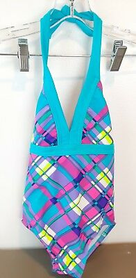 Toddler Girls Infants Multicolored Size 5 One Piece Geometric Swimsuit
