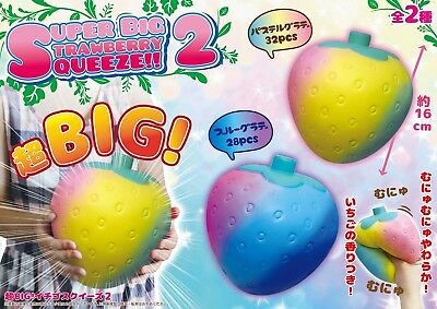 Super Big Strawberry Squeeze Squishy by Lian from Japan