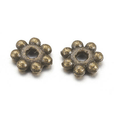 200 x Tibetan Style Daisy Flower Spacer Beads 4mm Antique Silver LF MB22