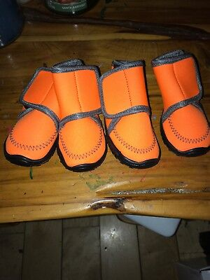 4pcs Small Dog Shoes Paw Boots Booties for Snow Rain Anti-slip Shoes