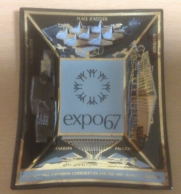 Collectible Expo 67 World's Fair Montreal, Canada Glass Ash Tray/Trinket Dish