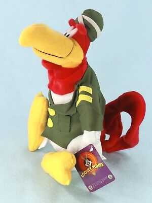 """WB Looney Tunes FOGHORN LEGHORN 11"""" Rooster Plush Toy Military Collectible NWT"""