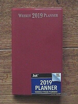 2019 Weekly Red PLANNER Calendar Airlines Hotels Rentals Pocket Purse Organizer