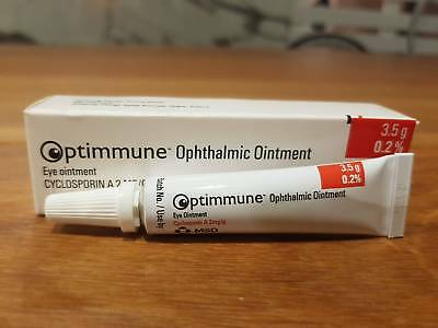 3.5g Optimmune eye ophthalmic ointment dog New Genuine Made in France Exp 9/2019